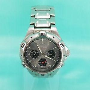 Guess Waterpro Watch Chronograph Silver Tone Gray